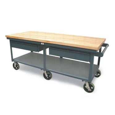 StrongHold Mobile Bench With Two Drawers