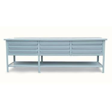 StrongHold Extra Wide Shop Desk With 12 Drawers