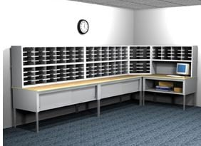 Awesome L Shape Mail Room Furniture