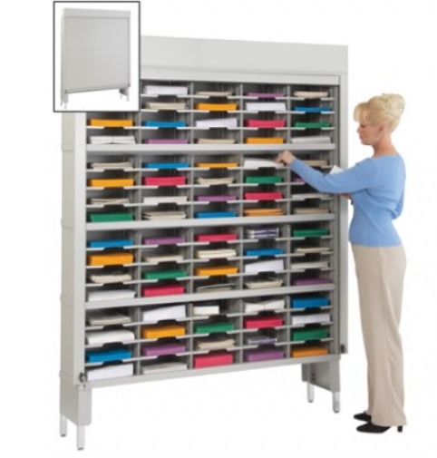 LOCKING 80 POCKET MAIL SORTER