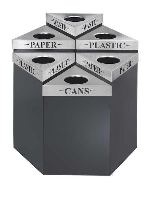 Mix and match waste receptacles