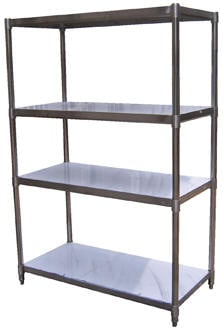 Economy Stainless Steel Shelving