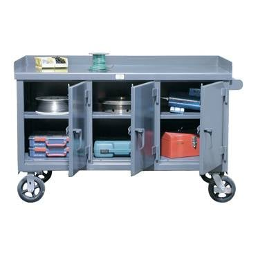 Kingcab Three Door Mobile Benches - Mobile Carts