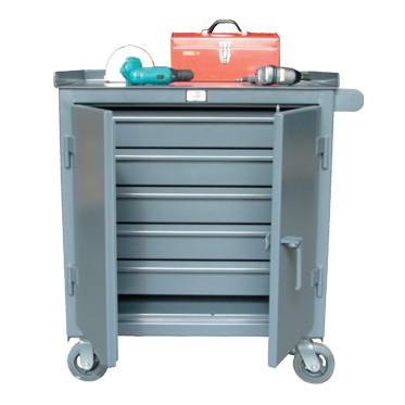 Kingcab Five Drawer Mobile Cart With Wide Drawers