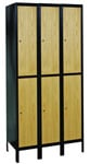 Hybrid Wood and Metal Double Tier Lockers