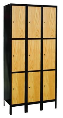 Hybrid Wood And Metal Triple Tier Lockers
