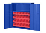 BigBlue 24 Bin Narrow Wall Mount Cabinet