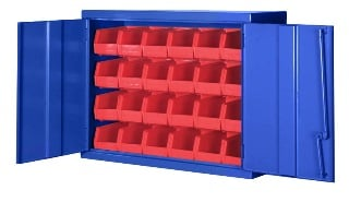 Bigblue 24 Bin Wide Wall Mount Cabinet