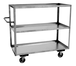 Three Shelf Tall Stainless Steel Carts