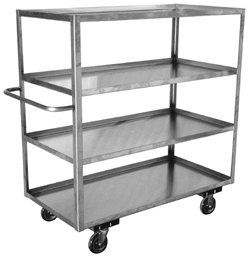 Stainless Steel Mobile Cabinets With Three Shelves