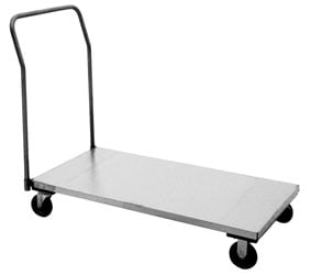 Stainless Steel Platform Trucks With One Removable Handle