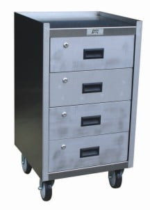 Four Drawer Stainless Steel Drawer Cabinet
