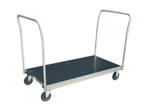 Stainless Steel Platform Trucks With Two Removable Handles