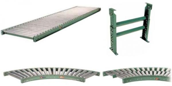 Medium Duty Roller Conveyors and Curved Sections
