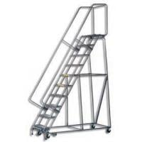 Rolling Safety Ladders With Locking Step