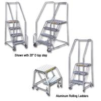 Stainless Steel And Aluminum Rolling Ladders