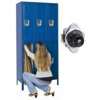 Double Tier Unit With Built In Combination Locks