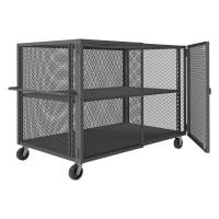 4 sided enclosed security cage cart