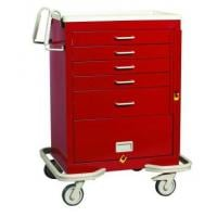 5 drawer crash cart with 9 in panel