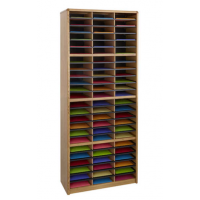 72 compartment literature organizer