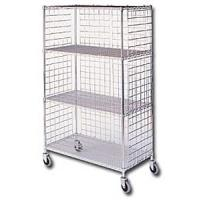 Three Sided Wire Shelving Carts