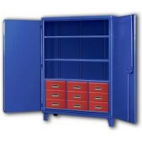Nine Drawer Big Blue Storage Cabinets