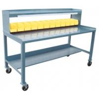 Mobile Work Stations With Plastic Bins And Riser