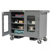 Kingcab See Through Storage Mobile Cart With Fork Pockets