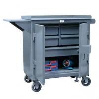 Kingcab Security Enhanced Five Drawer Mobile Cart With Vise Shelf