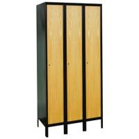 Hybrid Wood And Metal Single Tier Lockers