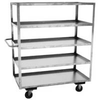 Five Shelf Tall Stainless Steel Utility Carts