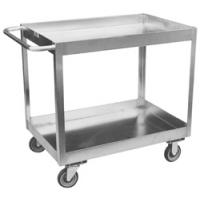 Two Shelf Stainless Steel Carts With Three Inch Lip