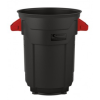 black trashcan