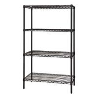 Black Epoxy Wire Shelving