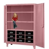 Nine Drawer Pink Elephant Storage Cabinets