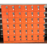 coin operated 6 tier box lockers pumpkin