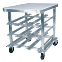 72 Can Capacity Mobile Can Rack - With Aluminum Top