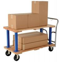 double and triple decker hardwood platform trucks