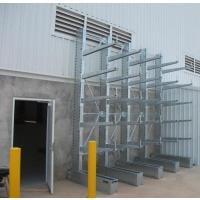galvanized cantilever rack in use side view