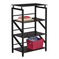 glass top 4 shelf bookcase