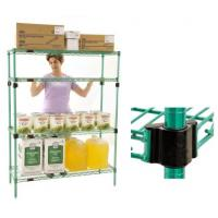 Quad Adjust Green Epoxy Wire Shelving