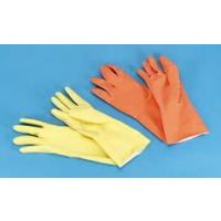 Yellow And Orange Reusable Flock Lined Gloves