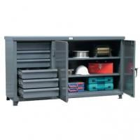 StrongHold Cabinet Work Bench With Half Width Drawers