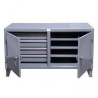 StrongHold Cabinet Workbench With Safety Secured Drawers And Shelves