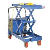 made in usa battery powered mobile double scissor lift
