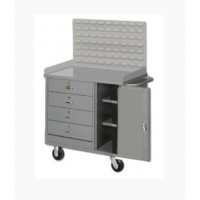 mobile ship desk with louvered panels