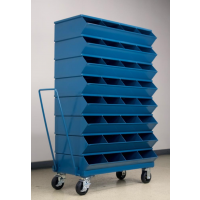 mobile small compartment stackbin