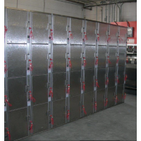 stainless steel coin operated box lockers