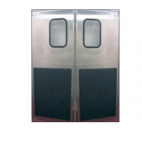 stainless steel single and double door set
