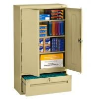 storage cabinet file drawer combo